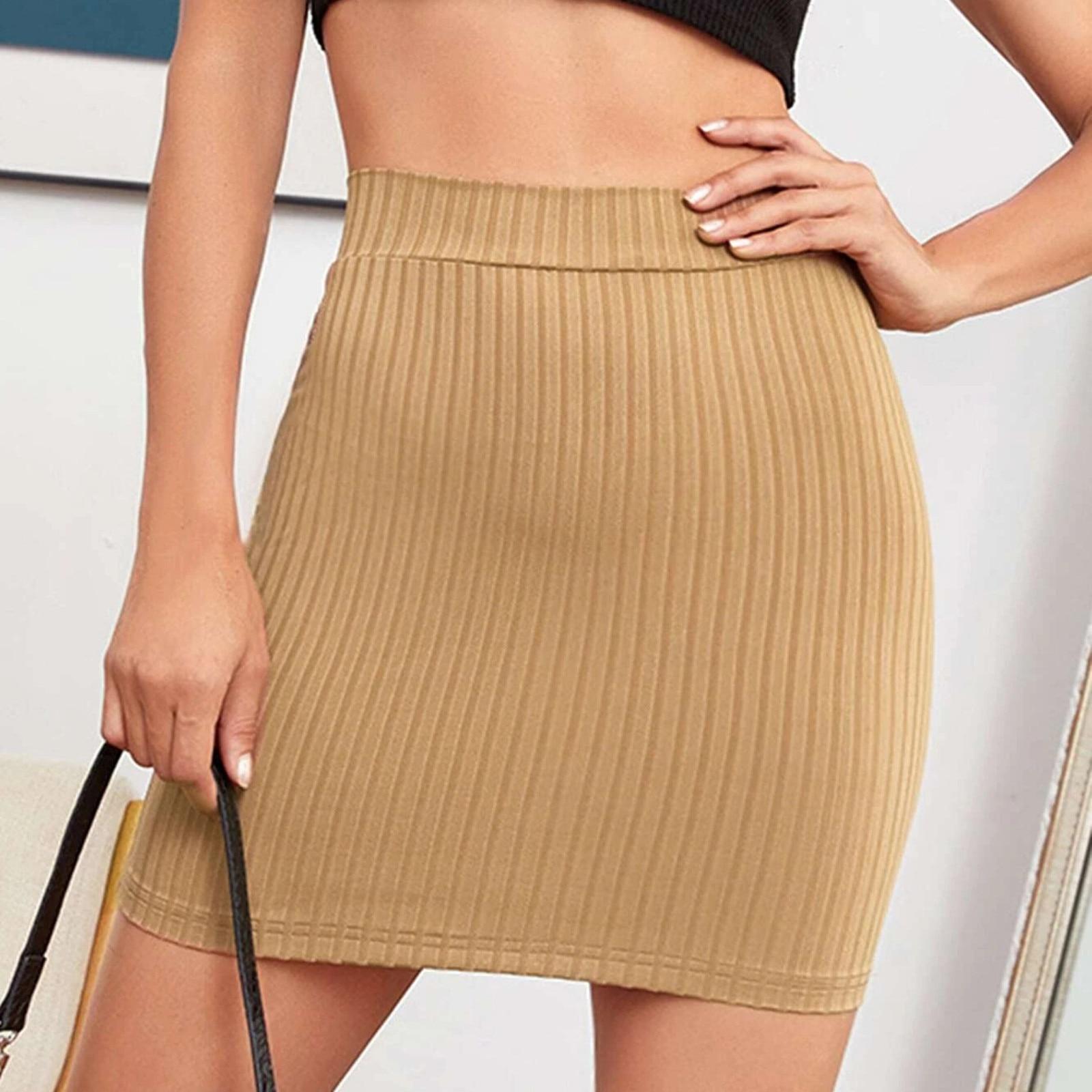 Фото - Юбка-трапеция Женская выше колена, модная однотонная мини-юбка, Повседневная модная трапециевидная мини-юбка, на лето flavio castellani мини юбка