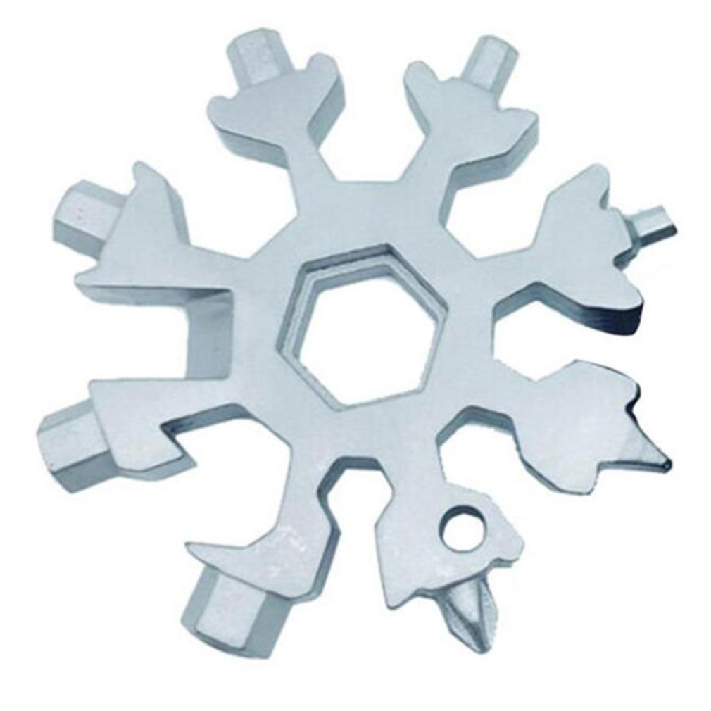 Wielofunkcyjny 18 w 1 śnieżynka śnieg klucz klucz sześciokątny multitool survival outdoor camping przenośny śrubokręt