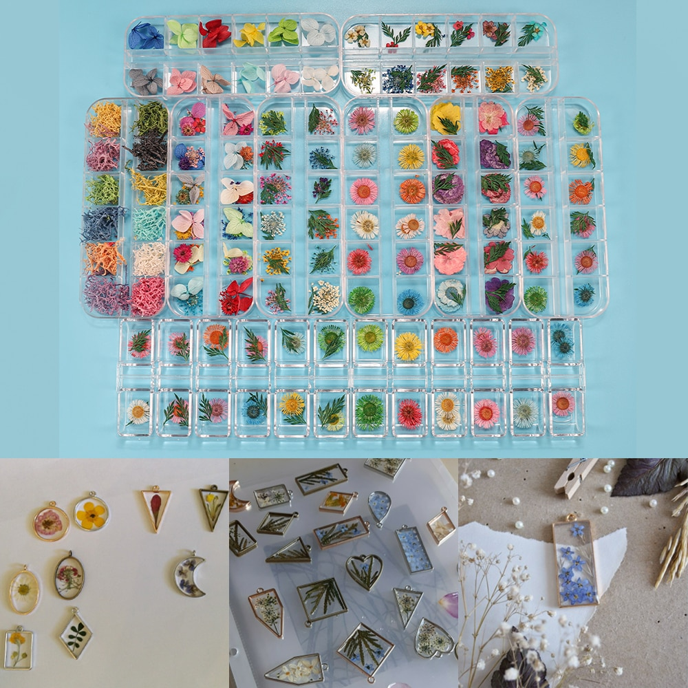 AliExpress - 1Box Dried Flower Dry Plants For Epoxy UV Resin Pendant Necklace Jewelry Making Craft DIY Nail Art Decoration Supply Accessories