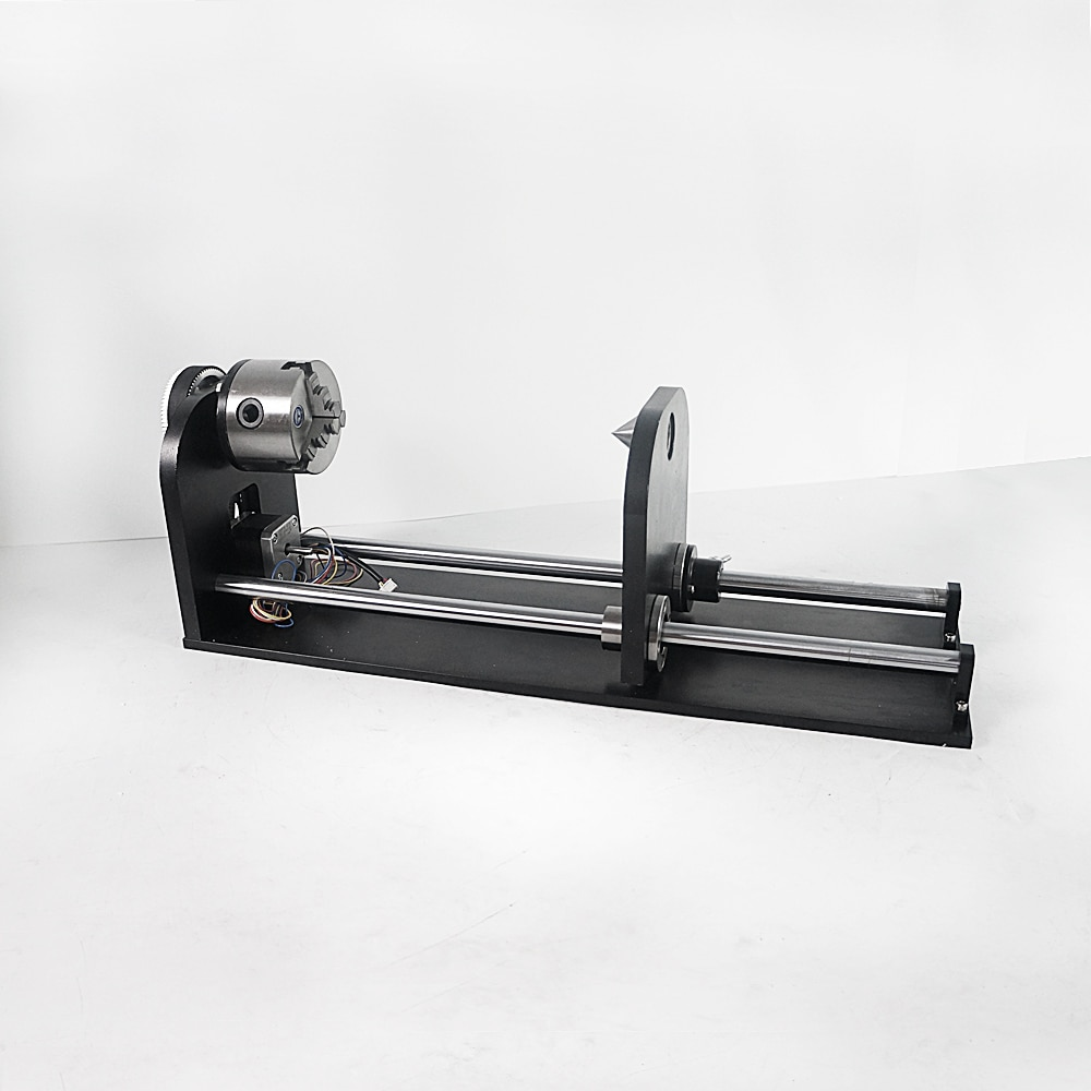 Universal Slide Rotary Axis 80MM 3 Jaw Fourth Axis For Co2 Laser Engraving Cutting Machine Cutter Engraver enlarge