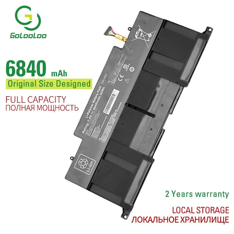 Golooloo-Batería de portátil para Asus Zenbook, 7,4 v, 6840mAh, 50Wh, UX31, UX31A,...