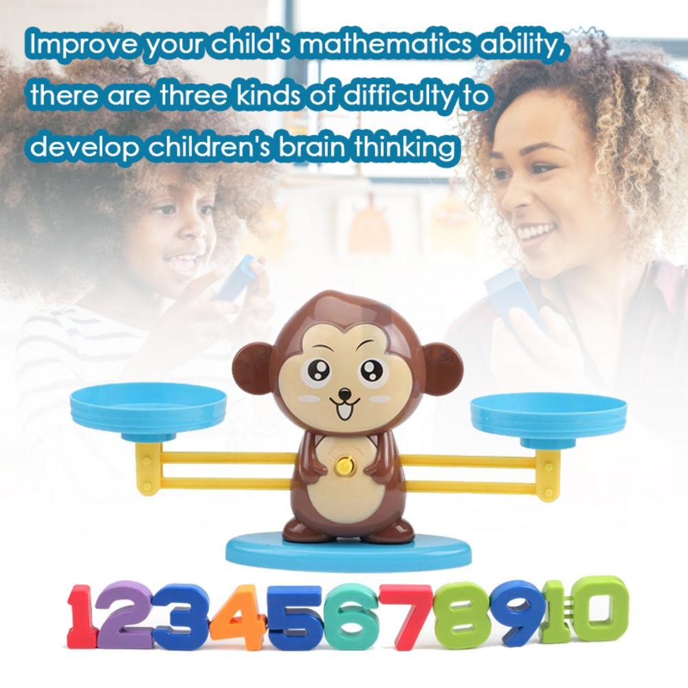 Mono equilibrio niños iluminación y educación temprana Digital, suminación de escritorio, rompecabezas de ciencia, juguetes para 3 años