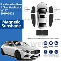 for mercedes benz a class w177 2019 2020 2021 magnetic sun car rear window sunshade windshield magnet curtain accessories