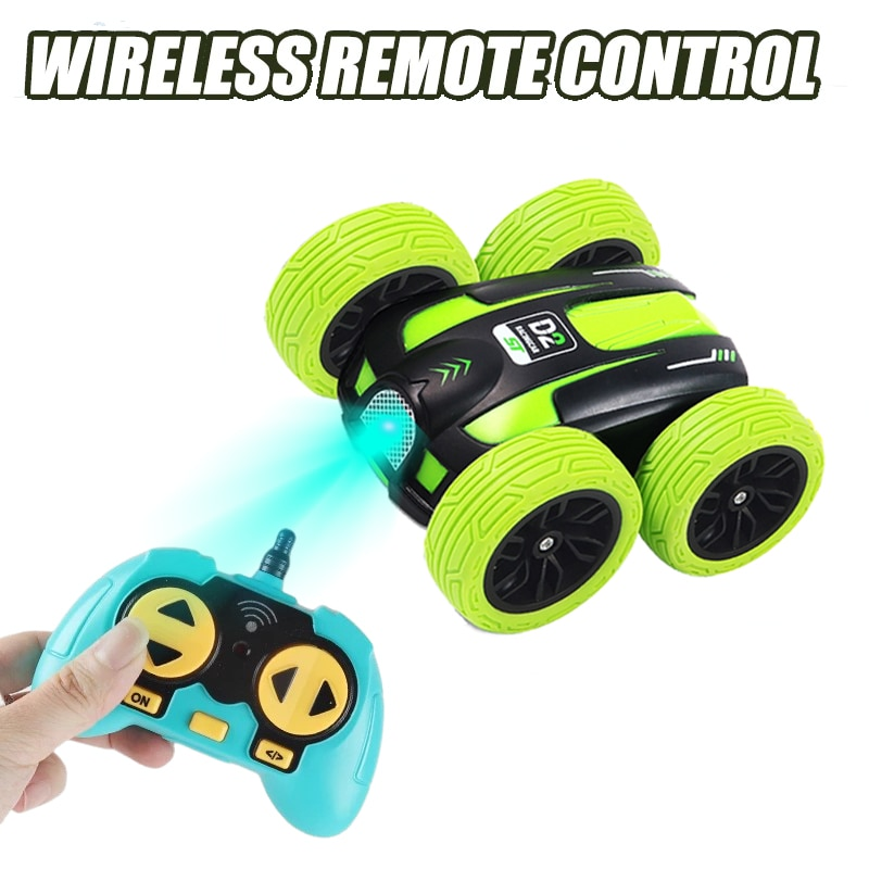 Chlidren Toy RC Car 2.4G 4CH Stunt Drift Buggy Double-sided Remote Control Roll 360 Degree Flip Kids Robot Cars Toys