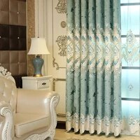 custom curtains for living room bedroom european style cheney blackout cutout embroidered curtain left and right biparting open