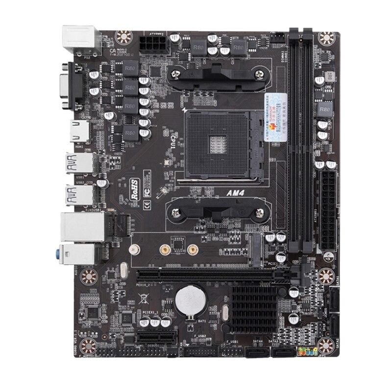 HOT-HUANANZHI A320-D4 يدعم AM4 1331 دبوس DDR4 المزدوج قناة 32GB ذاكرة SATA 3.0 لسطح المكتب الكمبيوتر ، مناسبة ل عبة ملأا