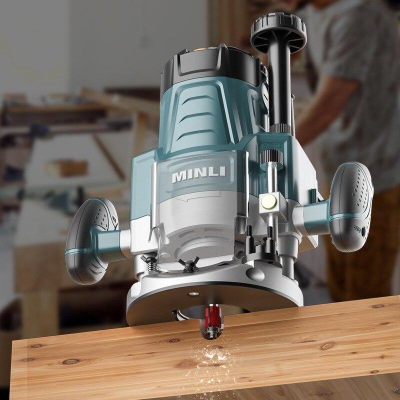 Engraving Machine Woodworking Slotting Machine Multi-function Trimming Machine Keyhole Yenoning Tool enlarge