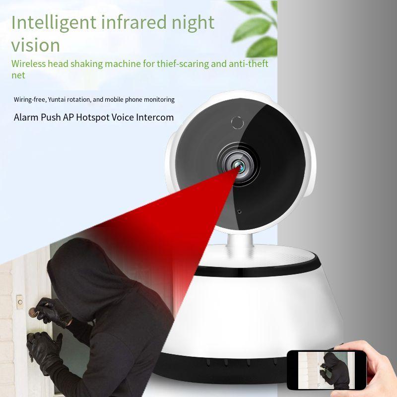 كاميرا أمان منزلية صغيرة IP ، كاميرا ذكية لاسلكية مع WiFi ، مراقبة فيديو للأطفال حديثي الولادة ، عالية الدقة ، إلكترونية ، للمربية