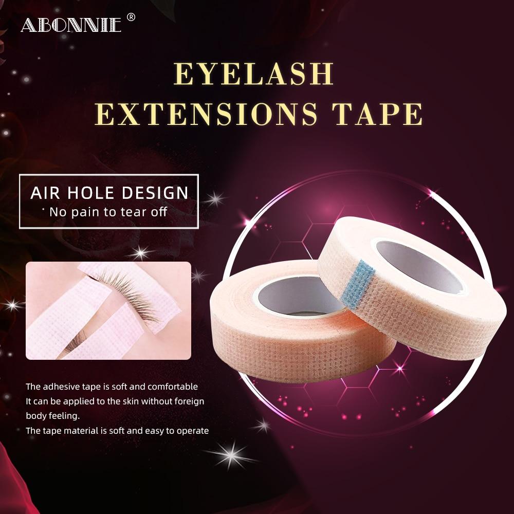 Abonnie fita para enxerto de cílios beleza maquiagem extensão de cílios macios cílios ferramentas rosa vison cabelo cílios individuais