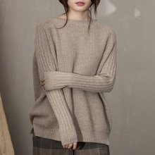 Women Sweater 2021 Winter Thick Woolen Pullover Long Sleeve O Neck Casual Knit Sweater Korean Style