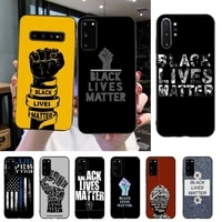yndfcnb black lives matter luxury phone case for samsung s20 s10 s8 s9 plus s7 s6 s5 note10 note9 s10lite