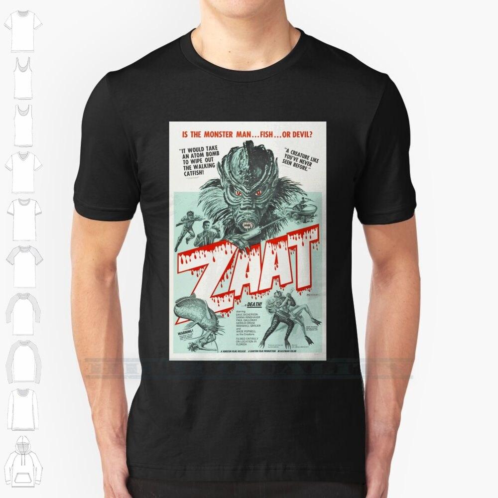Zaat Custom Design Print For Men Women Cotton T shirt Big Size 6xl Zaat Movie Scary Monster Vintage Fish Film Blood