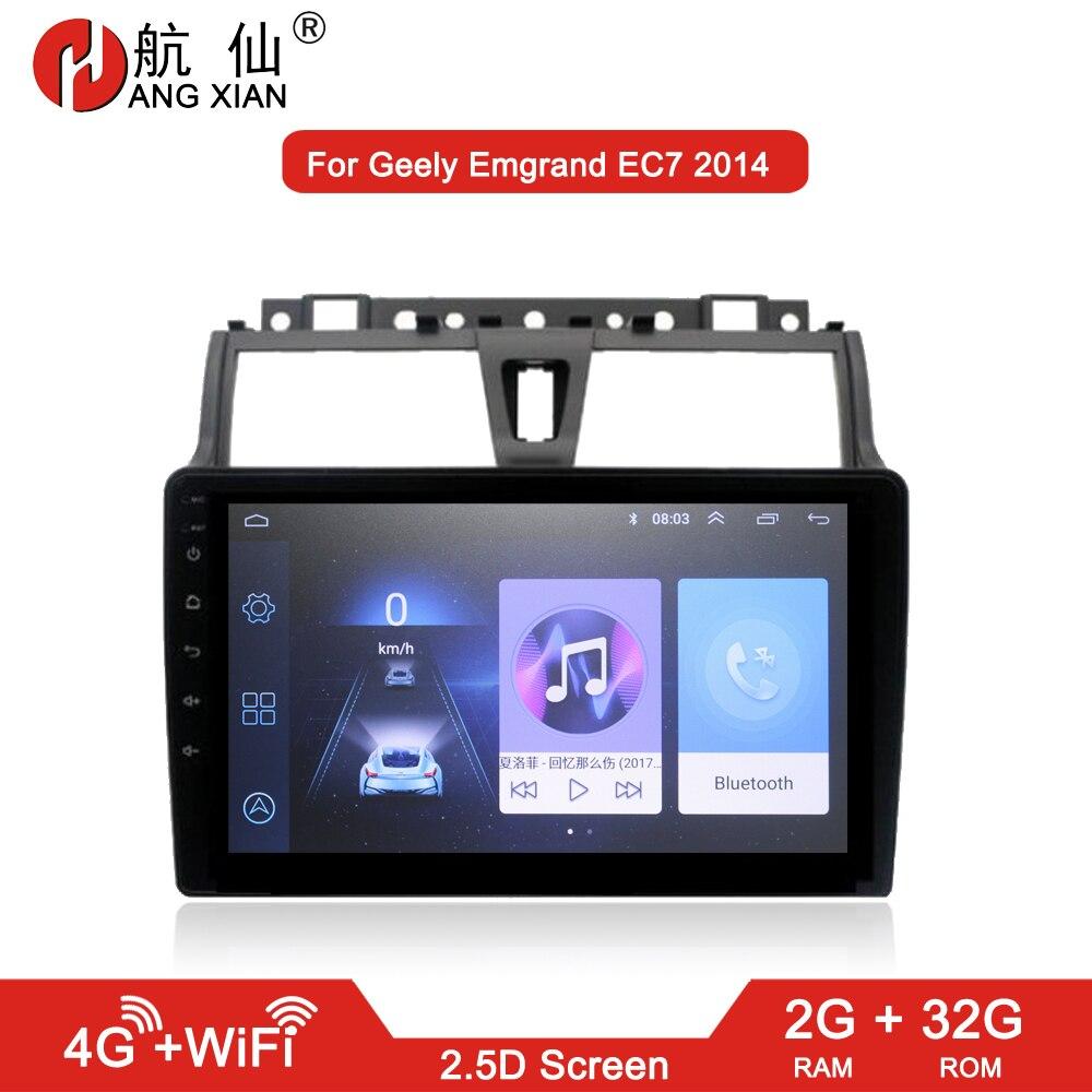 HANG XIAN 2 din Car radio for Geely Emgrand EC7 2014-2016 car dvd player gps navi car accessory of autoradio 4G internet 2G 32G