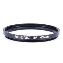 RISE (UK) 43mm Ultra-Violet UV-Filter Objektiv-Schutz für DSLR SLR Kamera