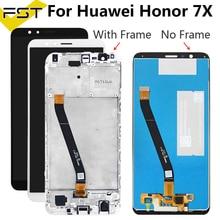 Lcd con marco para Honor 7X pantalla LCD recambio de conjunto de pantalla táctil para Huawei Honor 7 X pantalla de visualización BND-L21 L22 L24