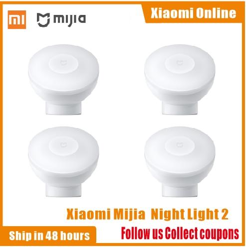 2020New Xiaomi Mijia MJYD02YL Night Light 2 Generation Adjustable Brightness Infrared Smart Human Body Sensor With Magnetic Base
