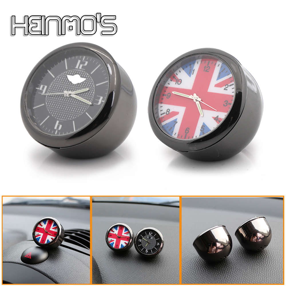 Car Decoration Electronic Quartz Watch Clock For MINI COOPER S ONE JCW Countryman Clubman R50 R53 R55 R56 R60 F54 F55 F56 F60 crystal epoxy i love mini car body sticker decal for mini cooper one jcw r55 r56 r60 f55 f56 f60 countryman clubman car styling