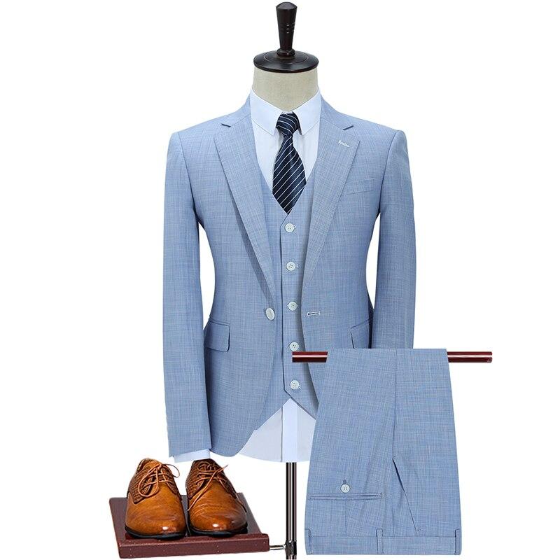 (Куртки + жилет + брюки) 2021 комплект из 3 предметов официальный облегающий смокинг костюм для выпускного вечера/мужской свадебный блейзер из ...