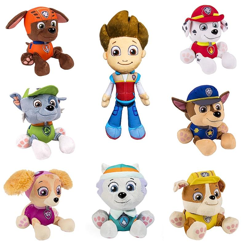 Pata patrulla perro Skye rastreador peluche Ryder Everest muñeca juguetes para niños de animé figura de acción muñeca de peluche de juguete de peluche regalo de Navidad