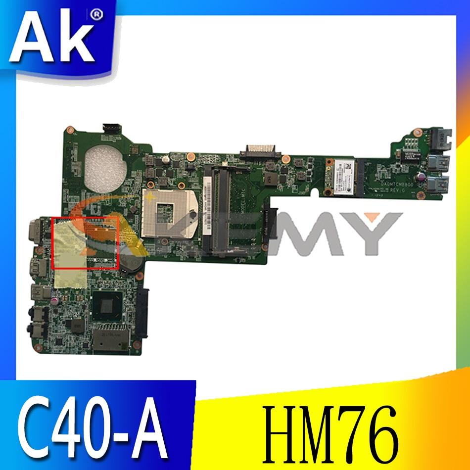 Akemy DA0MTCMB8G0 هو مناسبة لتوشيبا C40 C40-A C45 C45-A اللوحة المحمول PGA989 HM76 DDR3 100% اختبار