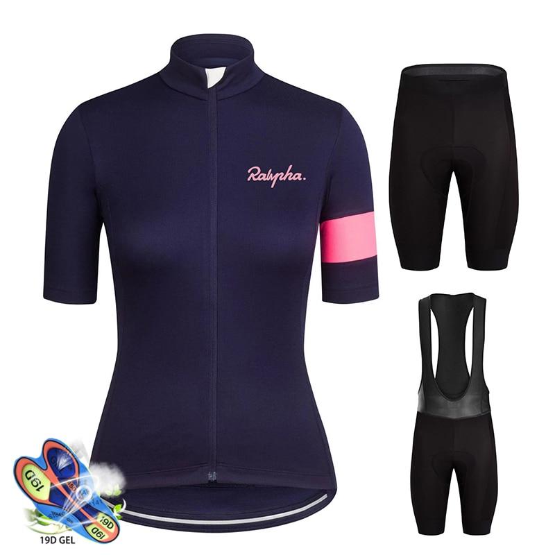 Ralvpha-Conjunto de Ciclismo para Mujer, camiseta transpirable para Ciclismo de montaña, verano,...