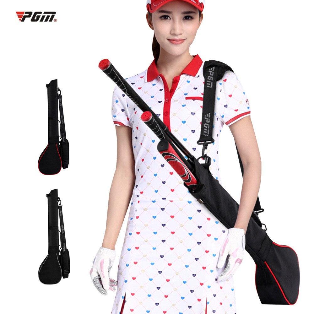 Mini 3 palos de Golf pistola bolsa plegable portátil interior Golf al aire libre deportes hombres mujeres ligero Nylon Golf Caddie aviación Pack