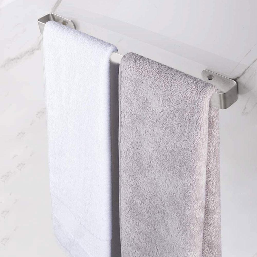 Towel Rail Wall Mounted Holder Bathroom Towels Rack Hanger  304 Stainless Steel Hanging Bar Storage Shelf