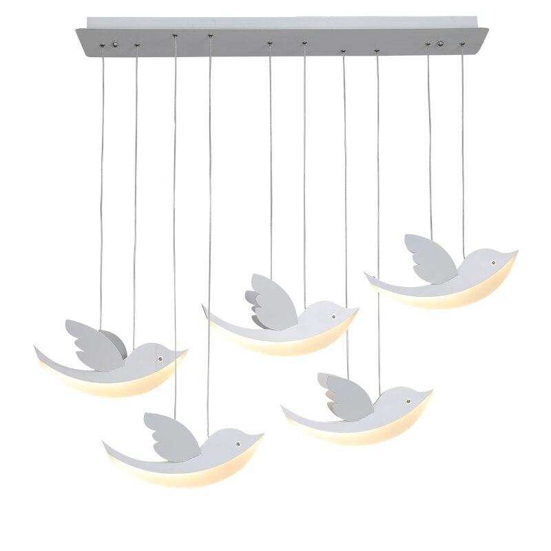 HAIXIANG Pássaros Voando de Acrílico Moderno LEVOU Pingente Luz Restaurante Iluminação Da Lâmpada Do Teto Foyer Ilha Pendurado Lâmpadas