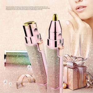 2 In 1 Electric Eyebrow Trimmer Makeup Painless Epilator Mini Lipstick Shaver Razors Women Portable Facial Body Hair Remover