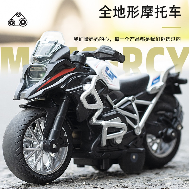 1:14 Alloy Motorcycle Car Model Diecast Metal Toy Pull Back Car Off-Road Racing Car Motorcycle Sound And Light Kids Toys mini vintage metal toy motorcycle toys hot wheel safe cool diecast blue yellow red motorcycle model toys for kids collection