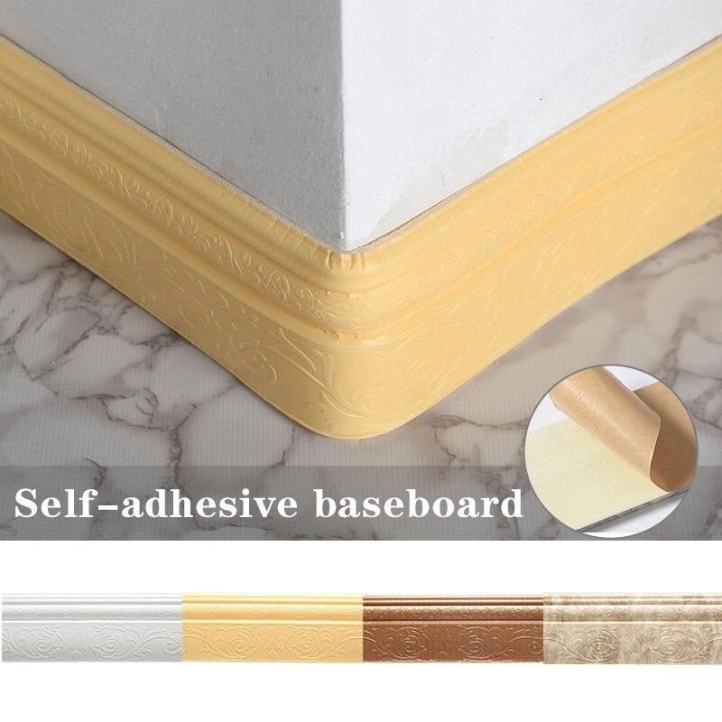 Pegatinas 3D autoadhesivas de borde de línea de recorte de pared a prueba de agua DIY papel decoración de pared HG99