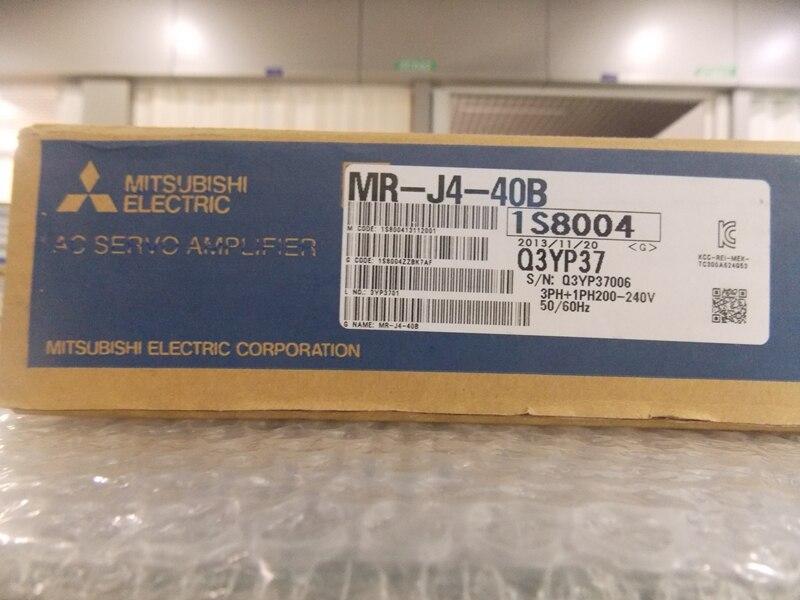 جديد في مربع الأصلي ac محرك سيرفو ميتسوبيشي محرك سيرفو محرك MR-J4-40B مضاعفات مضاعفات مكبر للصوت