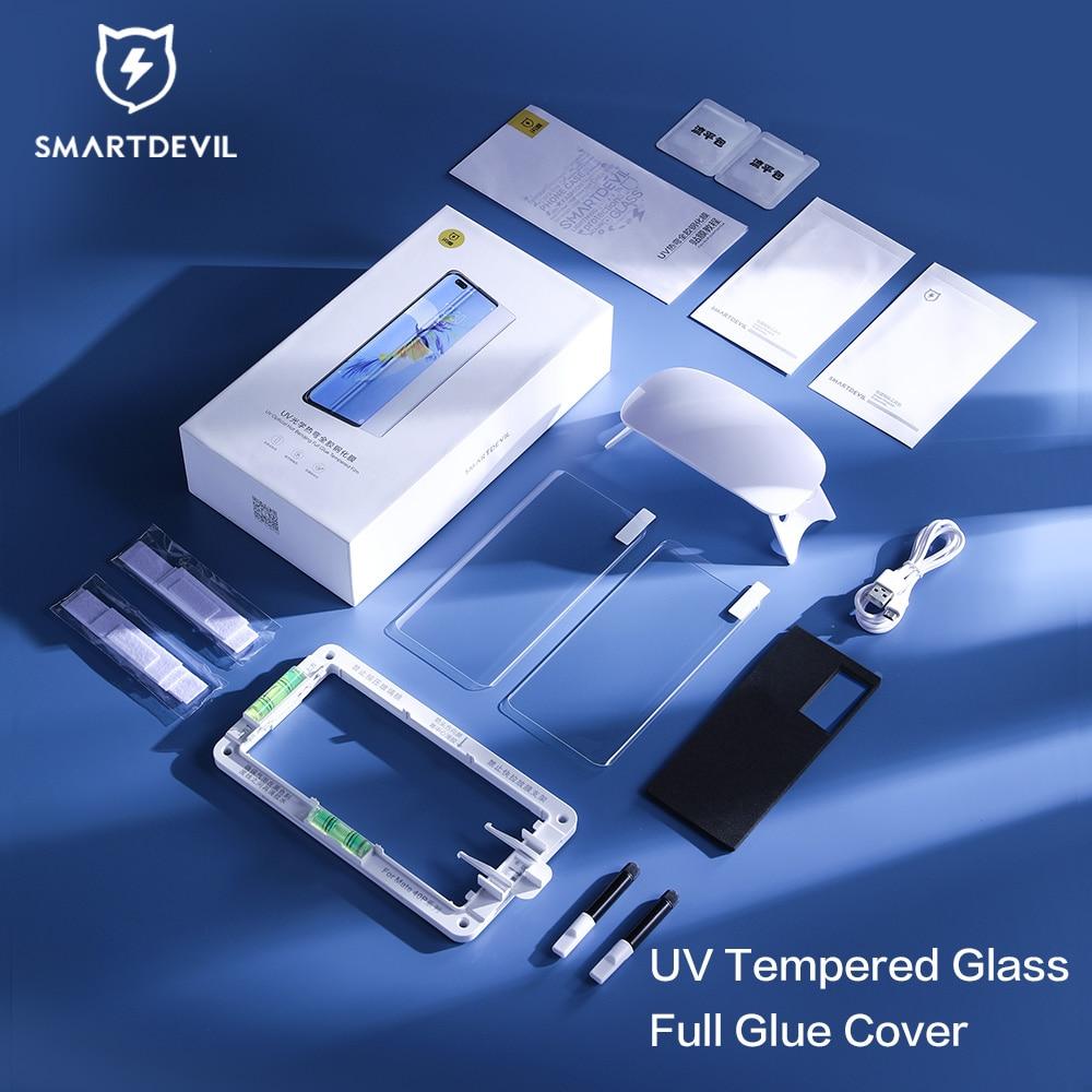 لاصقة كاملة من الزجاج المقسى للأشعة فوق البنفسجية لهاتف شاومي mi 11 11 pro 11 واقي شاشة فائق للأشعة فوق البنفسجية لهاتف شاومي mi 10 10S 10 Pro 10 Ultra