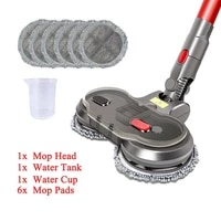 electric wet dry mopping head for dyson v7 v8 v10 v11 replaceable parts with water tank mop head mop pads water cup