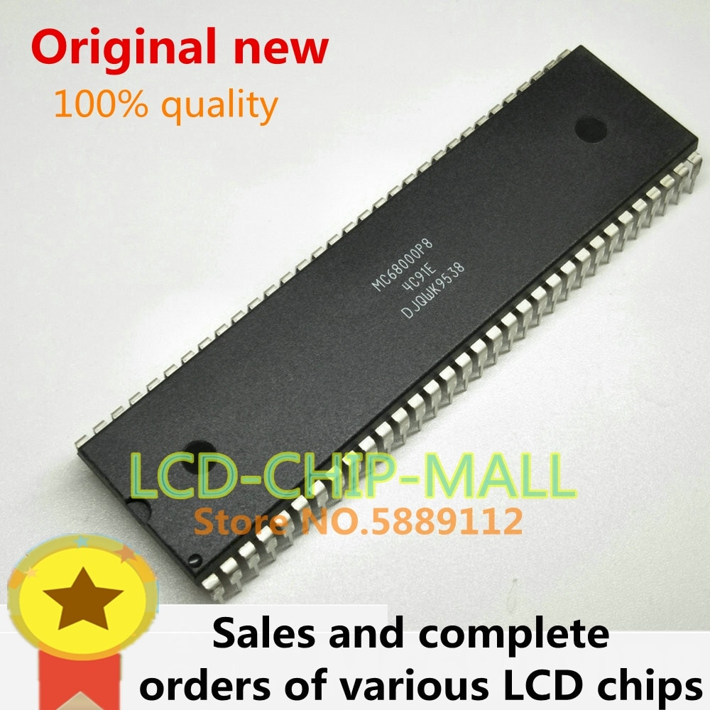 1PCS MC68000P8 MC68000 DIP64 DIP64 em stock 100% da boa