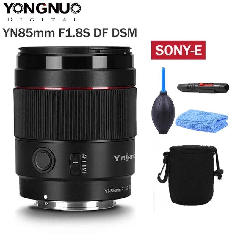 Yongnuo-عدسة كاميرا فتحة كبيرة ، YN85mm F1.8S DF DSM Len AF MF ، وضع التركيز ، كاميرا Sony E mount A9 A7RII A7II A6600 A6500