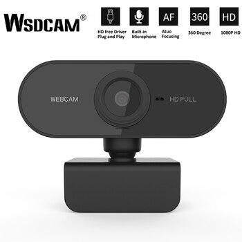 WebCamera HD 1080P Webcam avec Microphone | Mini ordinateur, caméras rotatives, pour émission en direct, vidéo, appel, travail de conférence
