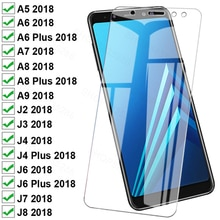 999D Protective Glass For Samsung Galaxy A8 A6 Plus A5 A7 A9 2018 Tempered Glass J4 J6 Plus J3 J7 J8 2018 Screen Protector Film