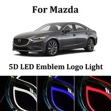 5D Car Styling led emblem Badge Logo Light for mazda 6 gg gh mazda 3 bl cx5 cx-6 cx-3 rx8 cx 7 LED Emblem Badge Logo Light