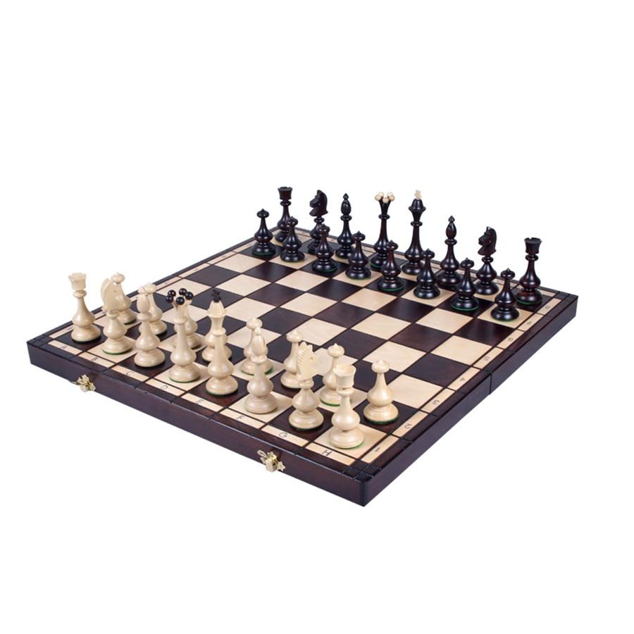 Antique Large Chess Board Wood Luxury Set Retro Classic Tournament Travel Kids Professional Backgammon Ajedrez Family Games E5