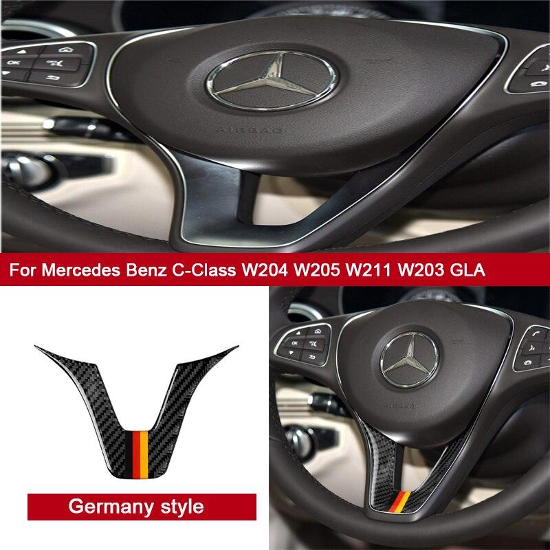 Car Interior Modification Trim  Steering Wheel Car Sticker for Mercedes Benz W204 W205 Car Accessories W211 W203 GLA C-Class