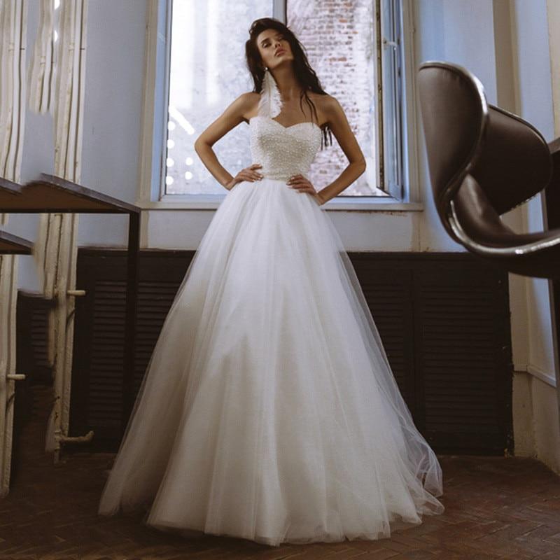 Elegant A Line Wedding Dress For Women 2021 robe de mariée Sexy Summer Backless Wedding Gowns Applique Lace Bridal Dresses Sheer