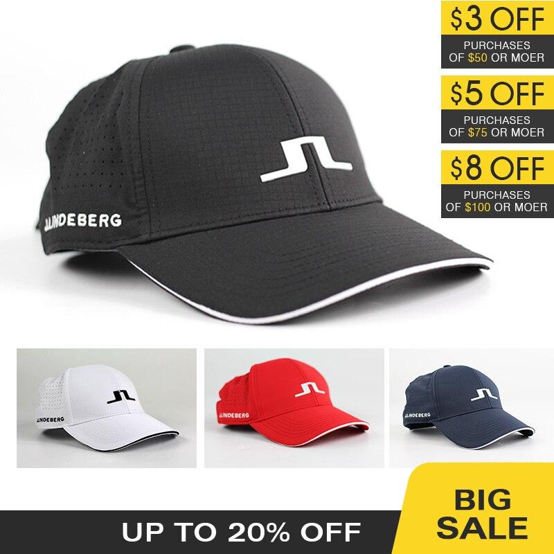 НОВАЯ шапка для гольфа, 4 цвета, спортивная шапка унисекс JL, солнцезащитный козырек, Спортивная Кепка для гольфа