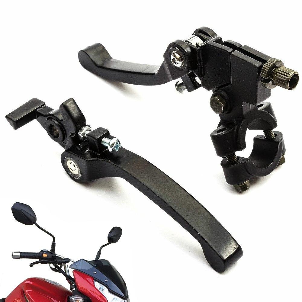 Mayitr 1 par negro Pit Dirt bicicleta Snap Back Brake embrague palanca alta calidad Moto accesorios para 110cc 125cc 140cc 160cc