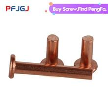 Peng Fa GB109 flat head copper rivet solid rivet M1.5M2M2.5M3M4M5M6M8 series