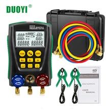 DUOYI manomètre numérique de réfrigération   R410a manomètre de pression, pression sous vide, température Test climatisation PK TESTO 550