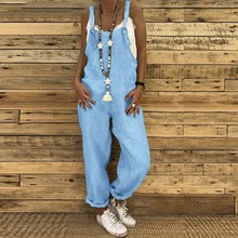 Jumpsuit Woman Summer Plus Size Overalls For Women Casual Loose Dungarees Romper Baggy Playsuit Jump