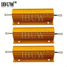 100W 0.01 ~ 100K Dalimentation En Aluminium En Métal Coque Bobinée 0.1 0.5 1 1.5 2 6 8 10 20 100 150 200 300 1K 10K ohm RX24