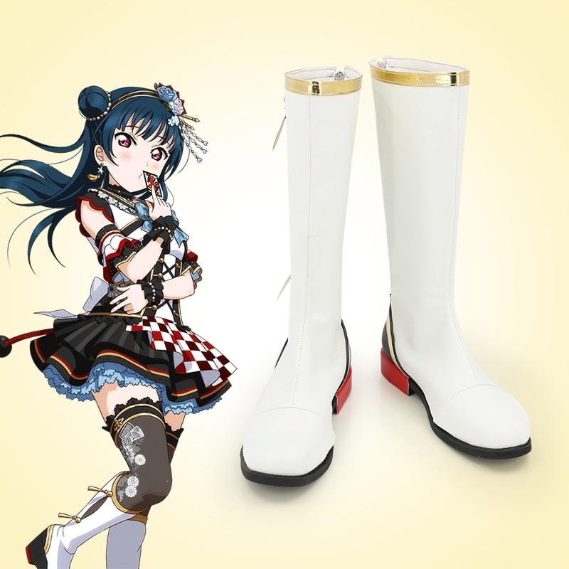 للجنسين أنيمي كوس بانغ حلم! ميتاكي ران تأثيري ازياء أحذية أحذية هالوين حفلة عيد الميلاد مخصص الحجم