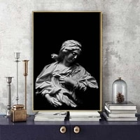 figure oil painting black and white sculpture womens art canvas painting living room corridor office home decoration mural